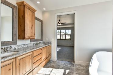 Tons of cabinet space in Master Bathroom