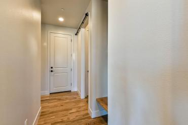 Barn doors on the laundry room