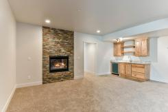 Downstairs fireplace and wet bar is an option