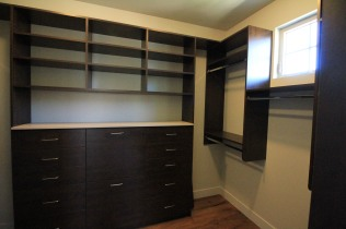 Upgraded Built In Shelving in Master Closet