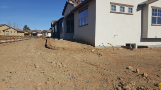 Trenching for Sprinklers