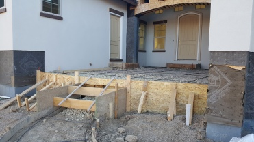 Front Patios Ready to Be Poured
