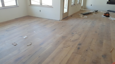 Hardwood Floors installed in one of the Patio Homes at Sunrise Ridge