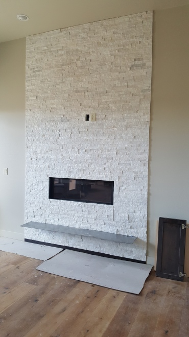 Beautiful fireplace surround at the patio homes at Sunrise Ridge