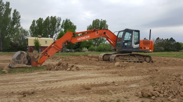 Another great heavy equipment shot at at the Sunrise Ridge Patio Homes