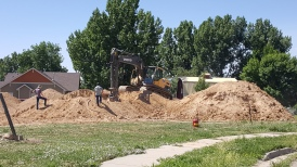 Continuing to dig for the new Sunrise Ridge Fort Collins Homes